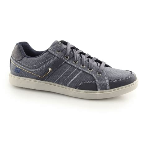 Sneakers Trainer Navy Footstep Footwear skechers lanson mesten mens canvas trainer shoes navy shuperb
