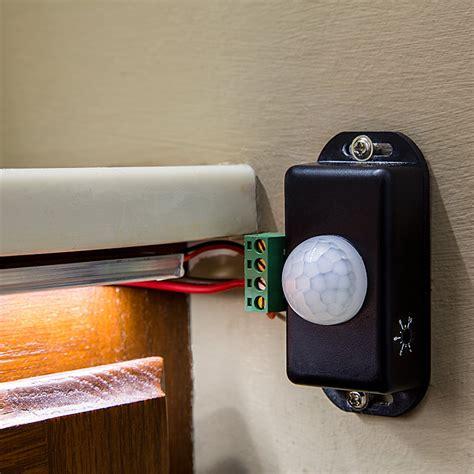 motion sensor led strip light mini pir motion sensor switch w built in timer pir