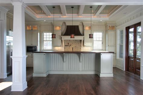 Coffered Ceilings Contemporary Kitchen charleston by Sea Island Builders LLC