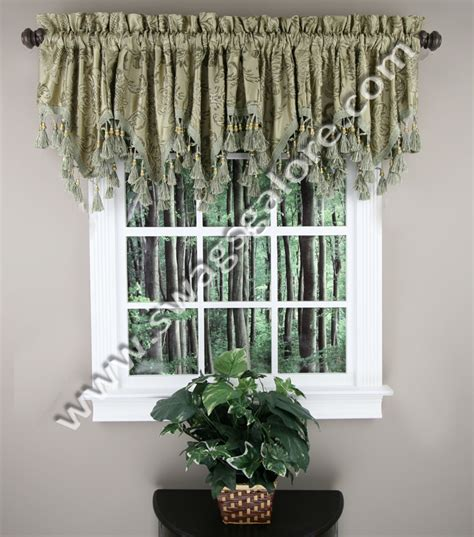 Swags Galore Valances Tiffany Valance Sage Luxury Home Textiles Kitchen Valances