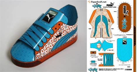 Paper Craft Shoes - sneakers en papier paper toys pumas and