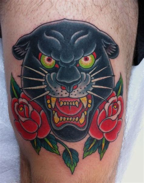 pinterest tattoo panther traditional panther tattoo by chris garver tattoo