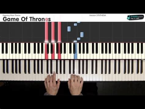 tutorial piano game of thrones game of thrones opening main theme tutorial piano