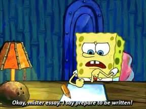Spongebob Doing Essay by Spongebob Essay