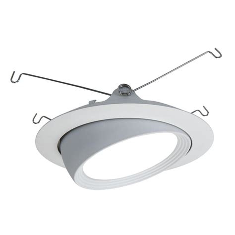 led recessed eyeball lights halo 5 in matte white led recessed lighting eyeball trim