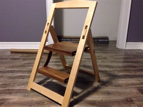 Folding Library Step Stool by Folding Step Stool Intended For Wood Folding Chair
