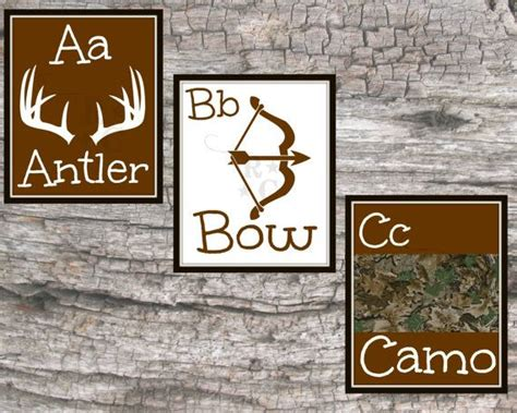 Camouflage Nursery Decor Boys Abc Alphabet Prints 8x10 Bow By Raising3cains 5 99 Camo Baby Room