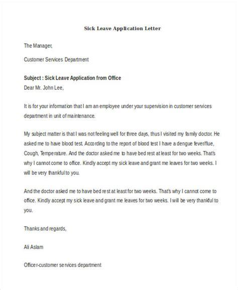 leave application letter sle doc leave application letter doc 28 images 22 application