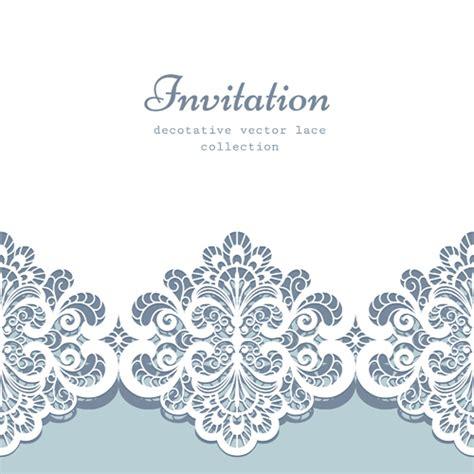 decorative card design decorative lace invitation cards vector design welovesolo