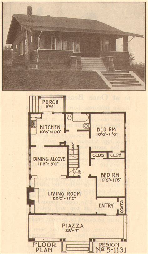 old house blueprints craftsman style house blueprint plan 1915 how to build plans