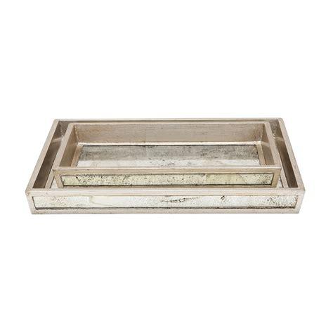 bathroom tray set buy amara atwater tray set silver leaf amara
