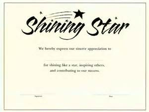 Name A Star Certificate Template   Waiter Resume Examples For ...