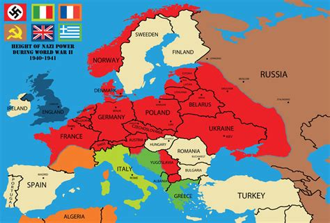 nazi power  ww map  rsholtis  deviantart
