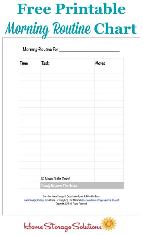 daily routine checklist template free printable morning routine chart plus how to use it