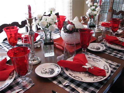 black and red christmas tablescapes creative journeys i think the roosters exploded