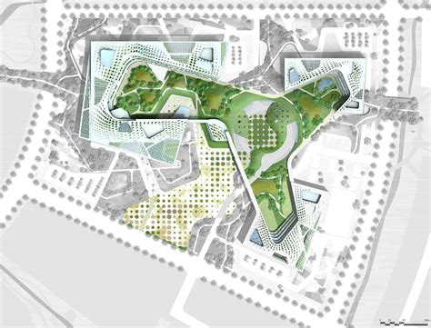 site plan design chung nam government complex successfully blurs the lines