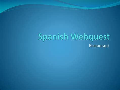 powerpoint tutorial spanish ppt spanish webquest powerpoint presentation id 4529706