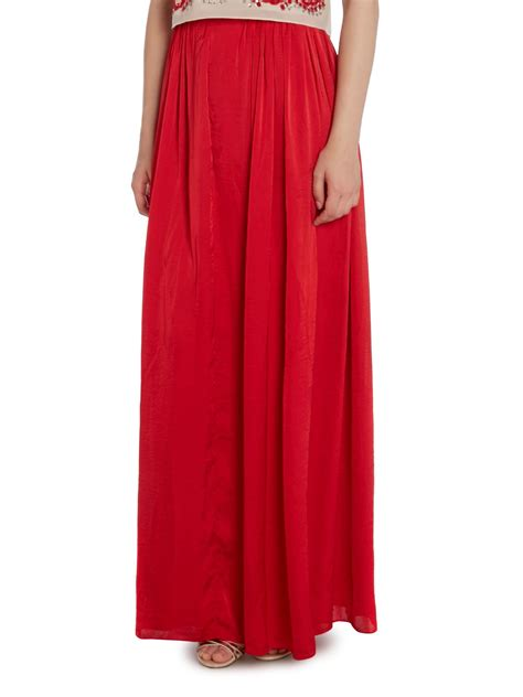 needle thread high waisted maxi skirt in lyst