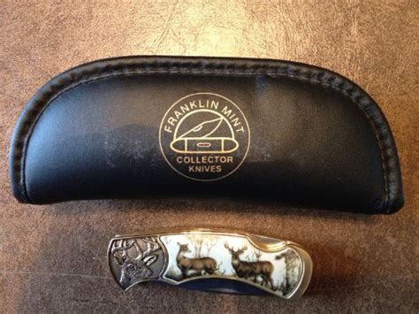 buck waterfowl knife franklin mint collectible knife the official 10 point