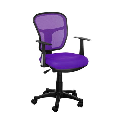 Furniture Corner Computer Desk With Equipment Storage And Purple Desk Chair