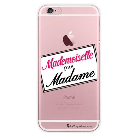 coque transparente mademoiselle pas madame pour apple iphone 6