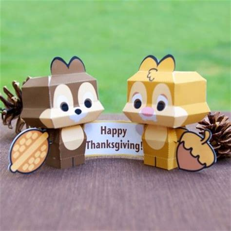 Disney Papercrafts - chip n dale cutie papercrafts disney thanksgiving and