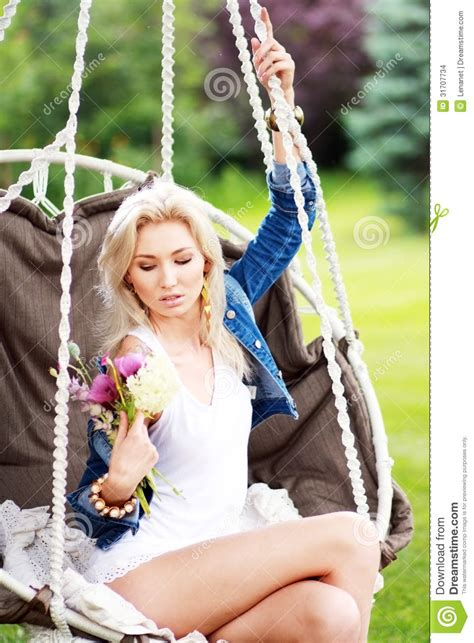 swinging naturals woman swinging stock images image 31707734
