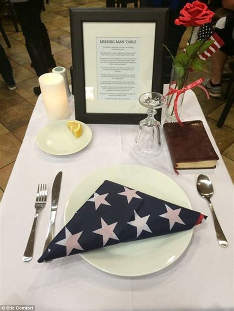 army fallen comrade table script fil a sets a table for soldiers to