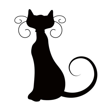 cat silhouette cat lady pinterest