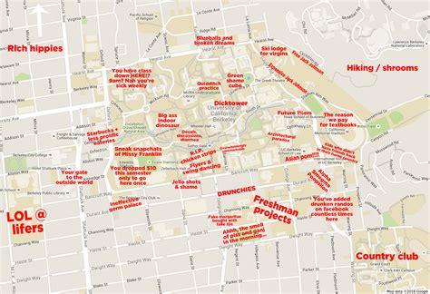 berkeley map the judgmental map of cal berkeley cus
