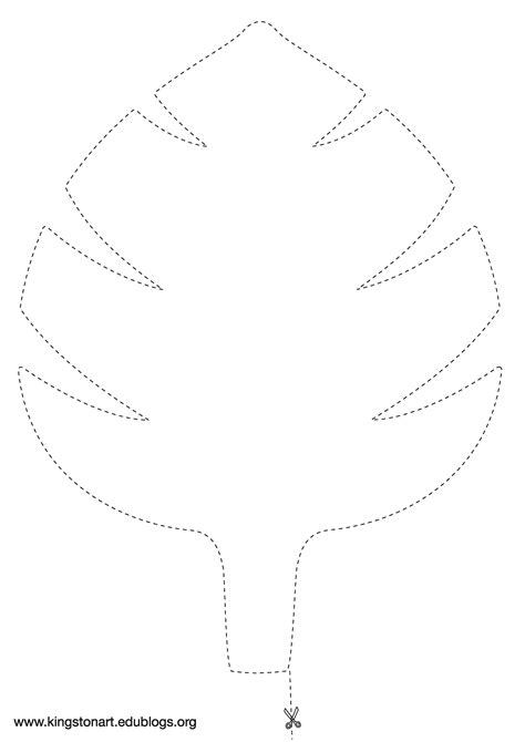 jungle leaf templates to cut out jungle leaf template pinteres