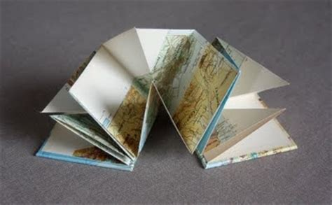 Origami Book Fold - origami folded map book maps