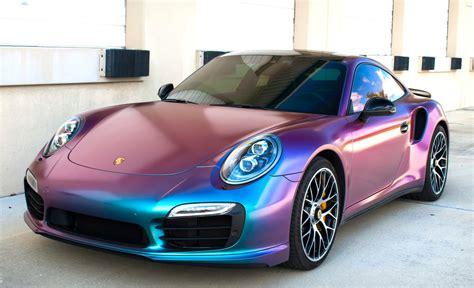chagne color car color changing porsche
