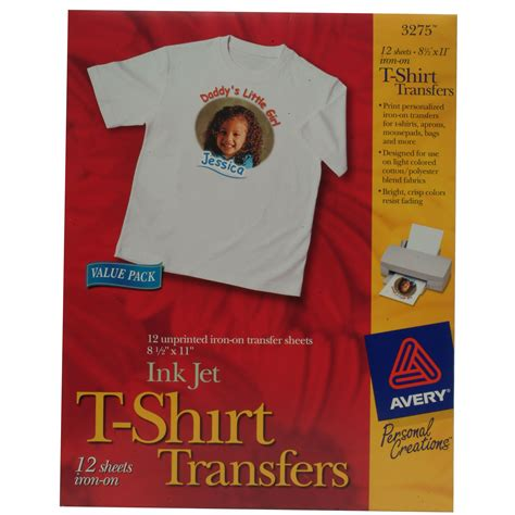 avery printable iron on transfers avery 25006311 t shirt transfers inkjet 12 sheet