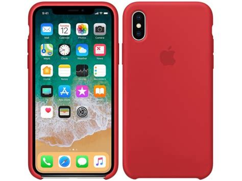 capa protetora silicone  iphone  apple product red
