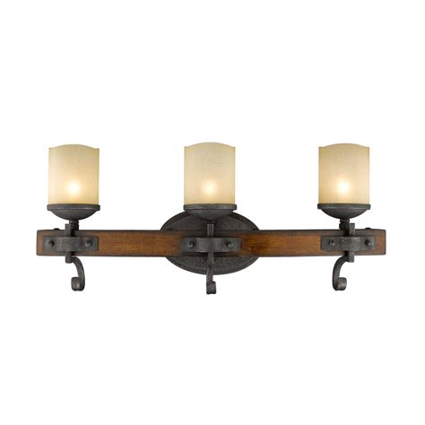 Golden Lighting Madera Black Iron Three Light Bath Vanity Black Bathroom Light