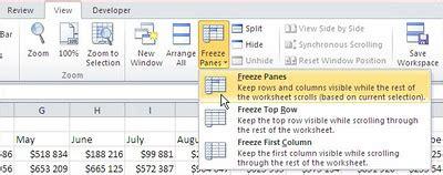 tutorial excel freeze panes best excel tutorial freeze panes and split