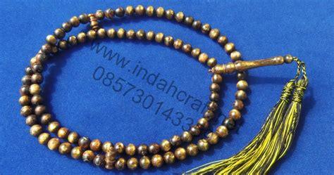 Tasbih Galih Kelor Emas tasbih tali arus hitam emas 8mm indahcraft