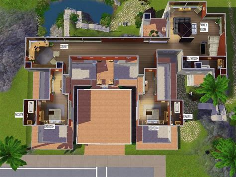 Open Floor Plan Layout by Mod The Sims Modern Stilt House