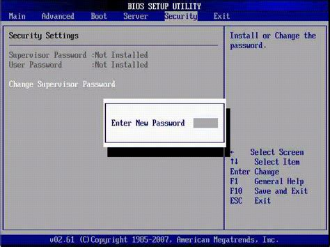 reset your bios powering on the server module configuring bios and