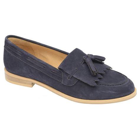 womens navy suede loafers buy ravel tilden loafers in navy suede