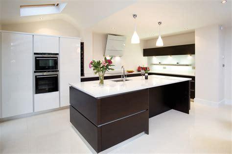 Bespoke Kitchen Islands wenge handleless kitchen true handleless kitchens co uk