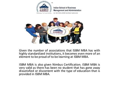 Important Things To Learn In Mba by Isbm Mba Is Valid