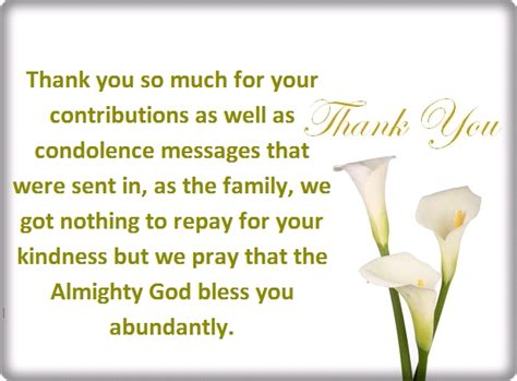 Sympathy Card Thank You Messages thank you for your condolences quotes and notes shainginfoz