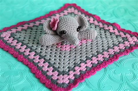 elephant lovie security blanket toy
