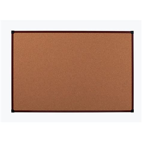 office depot brand framed cork board 72 x 48 mahogany