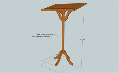 lectern woodworking plans build podium plans pdf woodworking