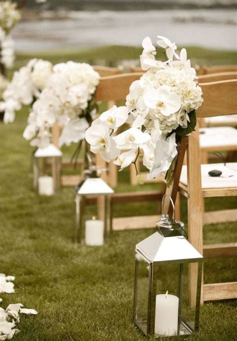 Wedding Aisle White by Outdoor Wedding Aisle Decorations Lanterns With White