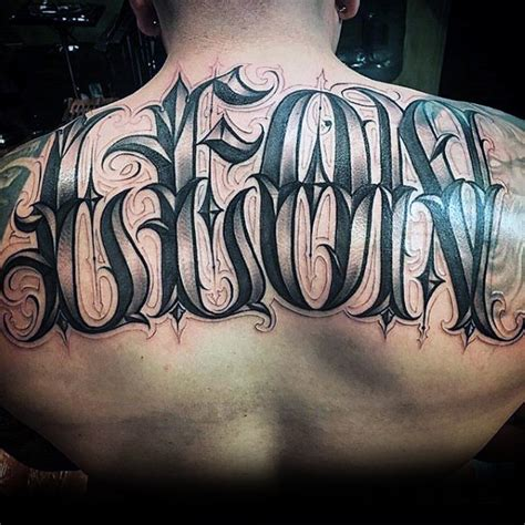 tattoo name on back 50 upper back tattoos for men masculine ink design ideas