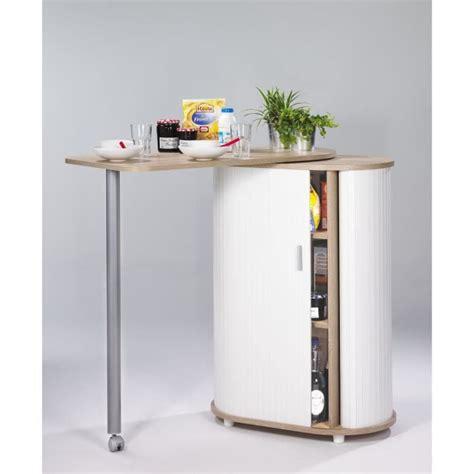 meuble cuisine avec table int馮r馥 table de cuisine et rangement ch 234 ne naturel achat